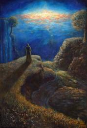 <strong>na druhém břehu</strong>      Technika : olej na plátně. Obraz byl dokončen koncem dubna 2012. Rozměr obrazu je  125x85cm. Obraz je možno si objednat jako reprodukci. Original je prodán.