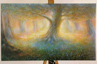 <strong>Malý dub</strong> rozměr: 90 x 55 cm ekologický pigmentový tisk na plátno cena : 1430 kč