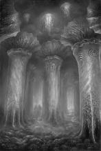 <strong>Chrám ticha</strong>      Technika : olej na plátně. Obraz byl dokončen koncem dubna 2013. Rozměr obrazu je  125x85cm. prodáno. Obraz je možno si objednat i jako reprodukci