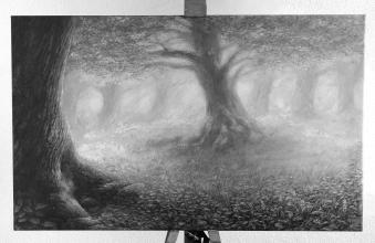 <strong>Léčivý dub</strong> rozměr: 90 x 55 cm ekologický pigmentový tisk na plátno cena : 1430 kč